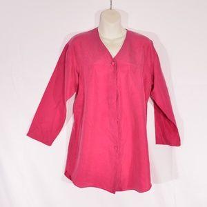 Delicatea small hot pink/ fuchsia  silk top